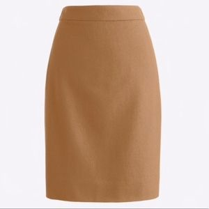 J Crew Wool Blend Pencil Skirt Size 14 Lined New
